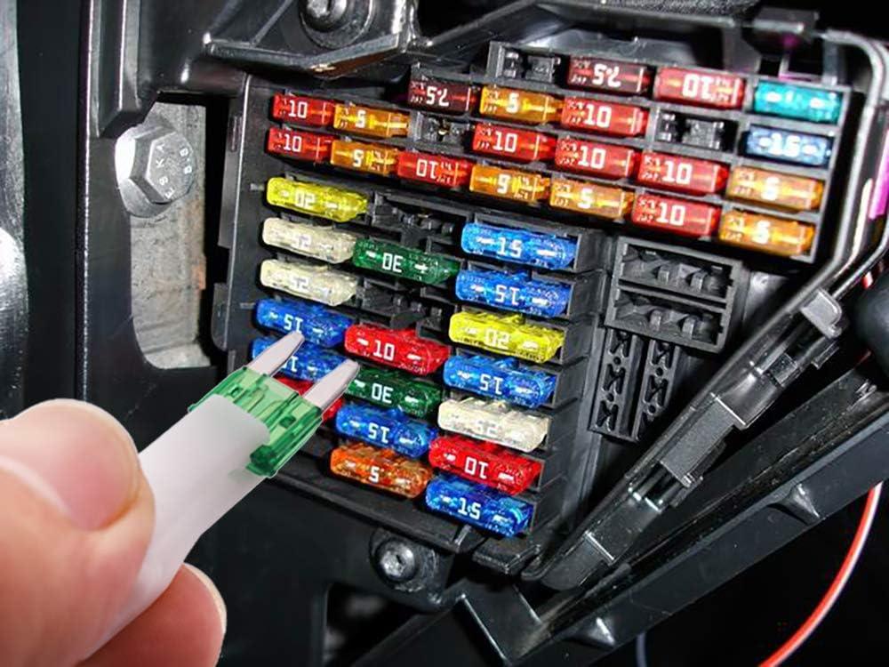 20 A 5 A 30 A 40 A 2 A 15 A 25 A 7,5 A Kit de fusibles de repuesto para coche de 140 piezas 3 A 10 A