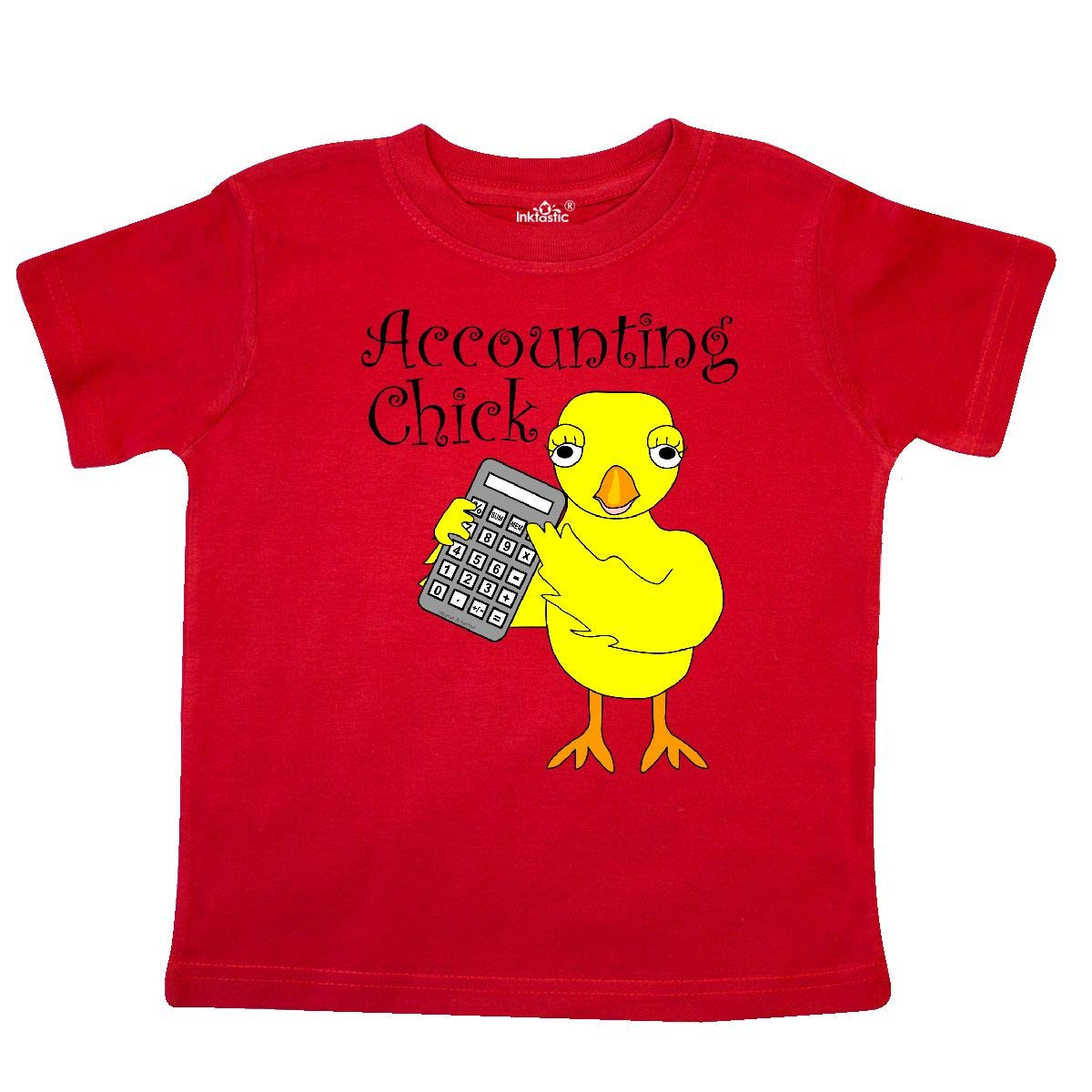 inktastic Accounting Chick Text Toddler T-Shirt