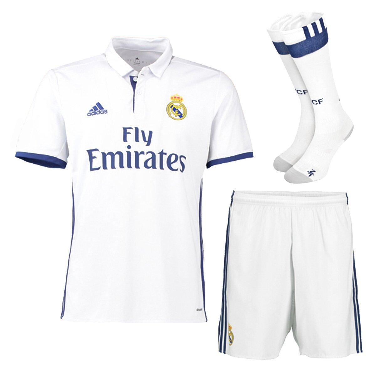 Real Madrid FC Home Kit Kinder 2015–2016 Shirt Shorts und Socken