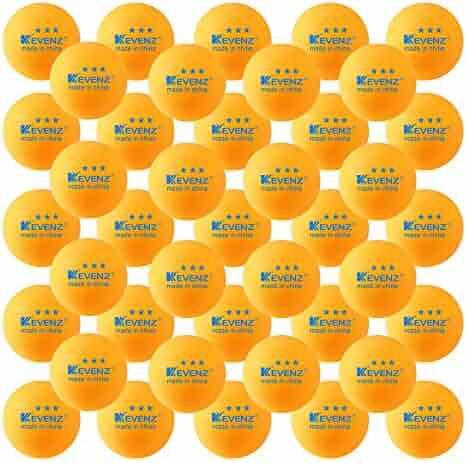 KEVENZ 50-Pack 3-Star 40mm Orange Table Tennis Balls,Advanced Ping Pong Ball