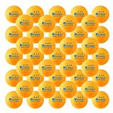 KEVENZ 50-Pack 3-Star Plus 40mm Orange Table Tennis Balls,Advanced Training Ping Pong Balls …