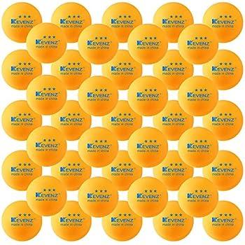 50-Pack KEVENZ 3-Star 40mm Orange Table Tennis Balls,Advanced Ping Pong Ball