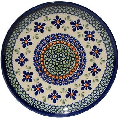 Polish Pottery Plate 7.5 Inch From Zaklady Ceramiczne Boleslawiec #Gu-814-du60 Unikat Pattern, 7.5 Inch Diameter