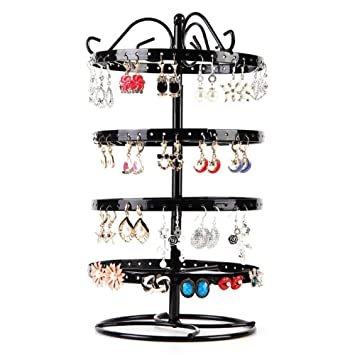 168 Hole Earrings Jewelry Rotating Display Stand Rack Earring Holder Hanger