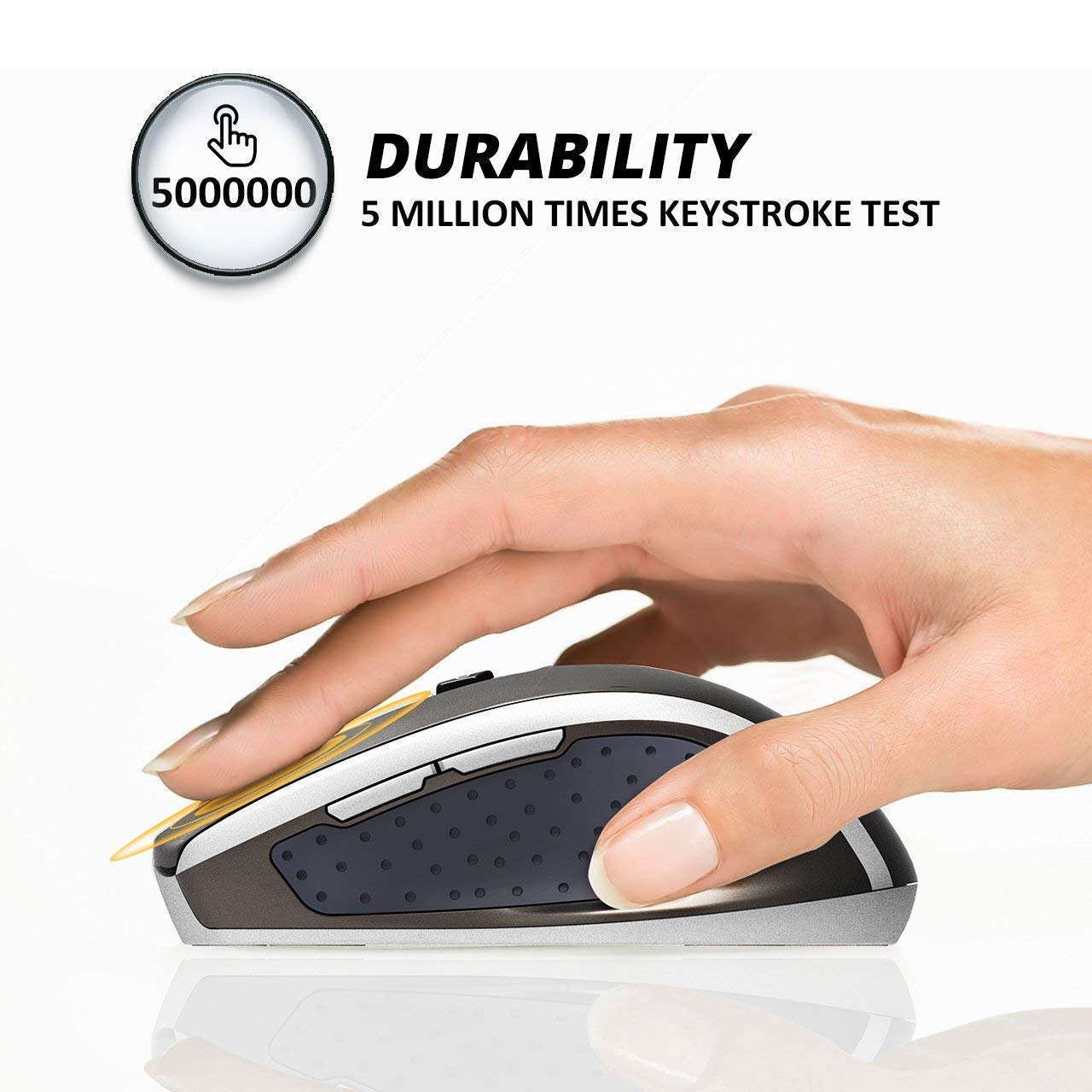 White MacBook Computer 5 Adjustable DPI Levels 6 Buttons for Notebook Laptop PC VicTsing MM057 2.4G Wireless Portable Mobile Mouse Optical Mice with USB Receiver
