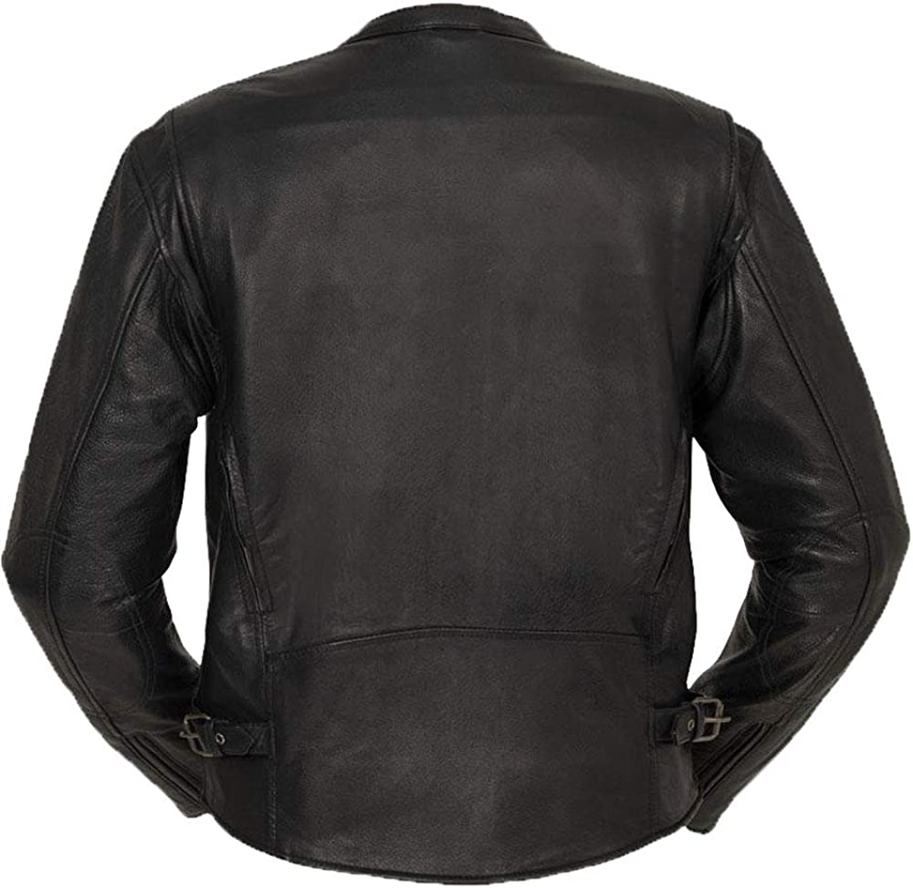 San Diego Leather Inc Mens Short Sport Collar Style Jacket with Vents