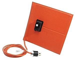 "BriskHeat SRP06121ADJB SRP-ADJ Heating Blanket, 90W, 120V, 6"" Wide, 12"" Length, Silicone Rubber"