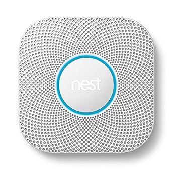 Image of Google, S3000BWES, Nest Protect Smoke + Carbon Monoxide Alarm, 2nd Gen, Battery Home Improvements