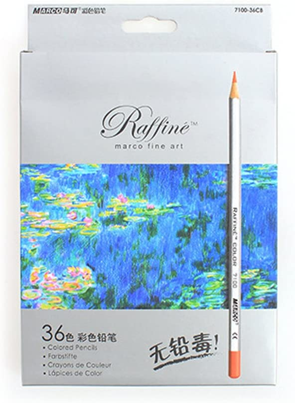 Marco Fine Art Colored Pencils/Drawing Pencils for Sketch/Secret Garden Coloring Book (Not Included) 36-color