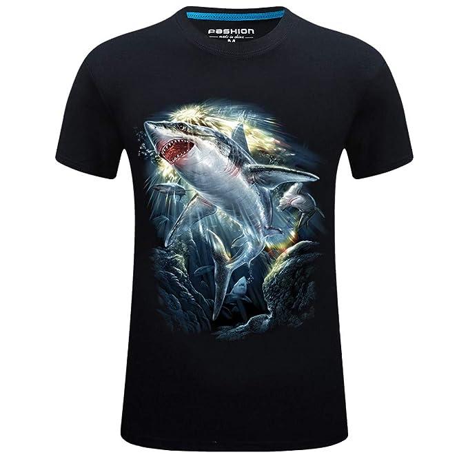 f0fdef0f Amazon.com: Graysky Men's Jaws Great White Shark 3D Print T-Shirts ...
