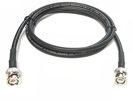 1 Foot BNC Male to BNC Male Times Microwave LMR-240 Ultraflex 4Ghz 50 Ohm Antenna Cable by Custom Cable Connection