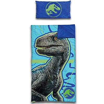 Jurassic World Slumber Bag Pillow 2 Piece Set: Home & Kitchen