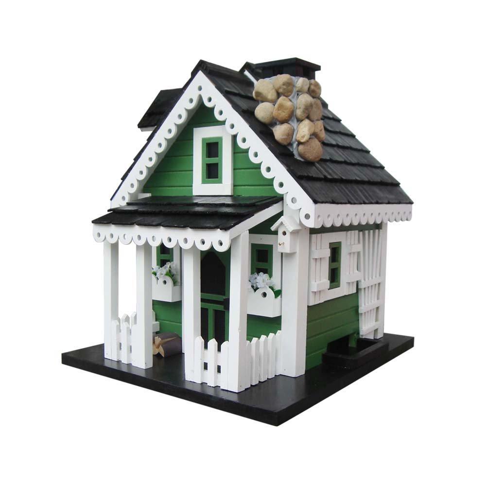 Home Bazaar Greenacres Bird Feeder, Green/White/Black by Home Bazaar, Inc.