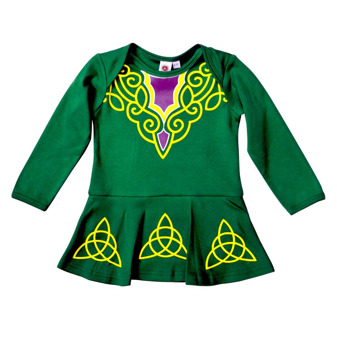 Green Babies Vest Designed As Irish Dancing Dress With Celtic Design Carrolls Irish Gifts