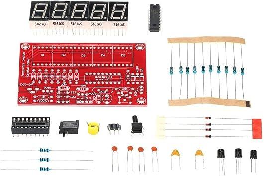 1Hz ~ 50 MHz Frequency Meter Frequenzmesser Tester DIY Kit 5 Digitale
