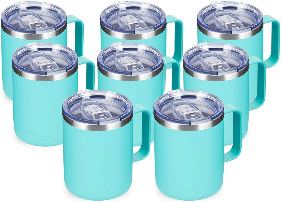 Phoenix Mall COKTIK 12oz Insulated Fort Worth Mall Coffee Mug With Handle Lid Sliding and Sta
