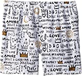 Dolce & Gabbana Kids Boy's Regular Boxer (Big Kids) White Print 8