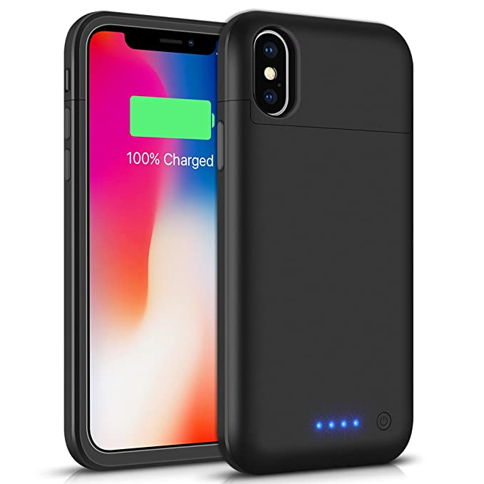 buy popular d5f7b 73730 Battery Case for iPhone X/XS / 10, Taeozi 5200mAh Rechargeable Power  Charging Case for iPhone X Xs 10 (5.8 inch) Extended Battery Pack  Protective ...