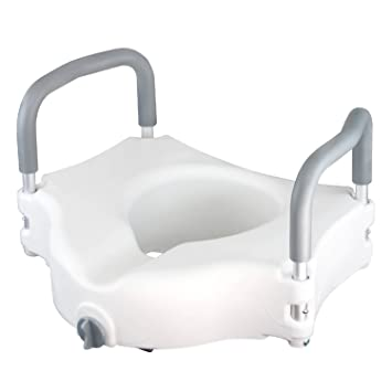 Amazon.com: Raised Toilet Seat by Vive - Portable Elevated Riser ...