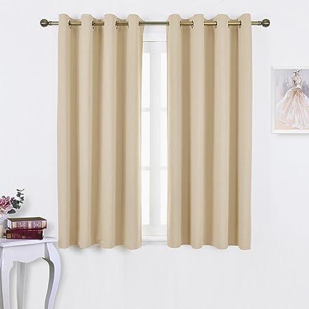 Pony Dance Kitchen Bedroom Window Curtains Panels 52 Wide By 63 Inch Drop Beige