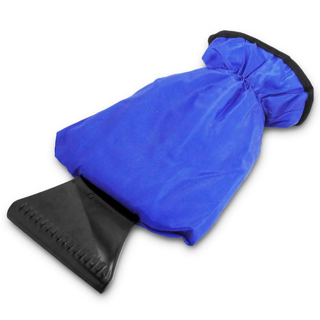 Blue Zone Tech Car Ice Scraper Mitt for Windshield Waterproof Snow Scraper with Lined Fleece Glove Removable