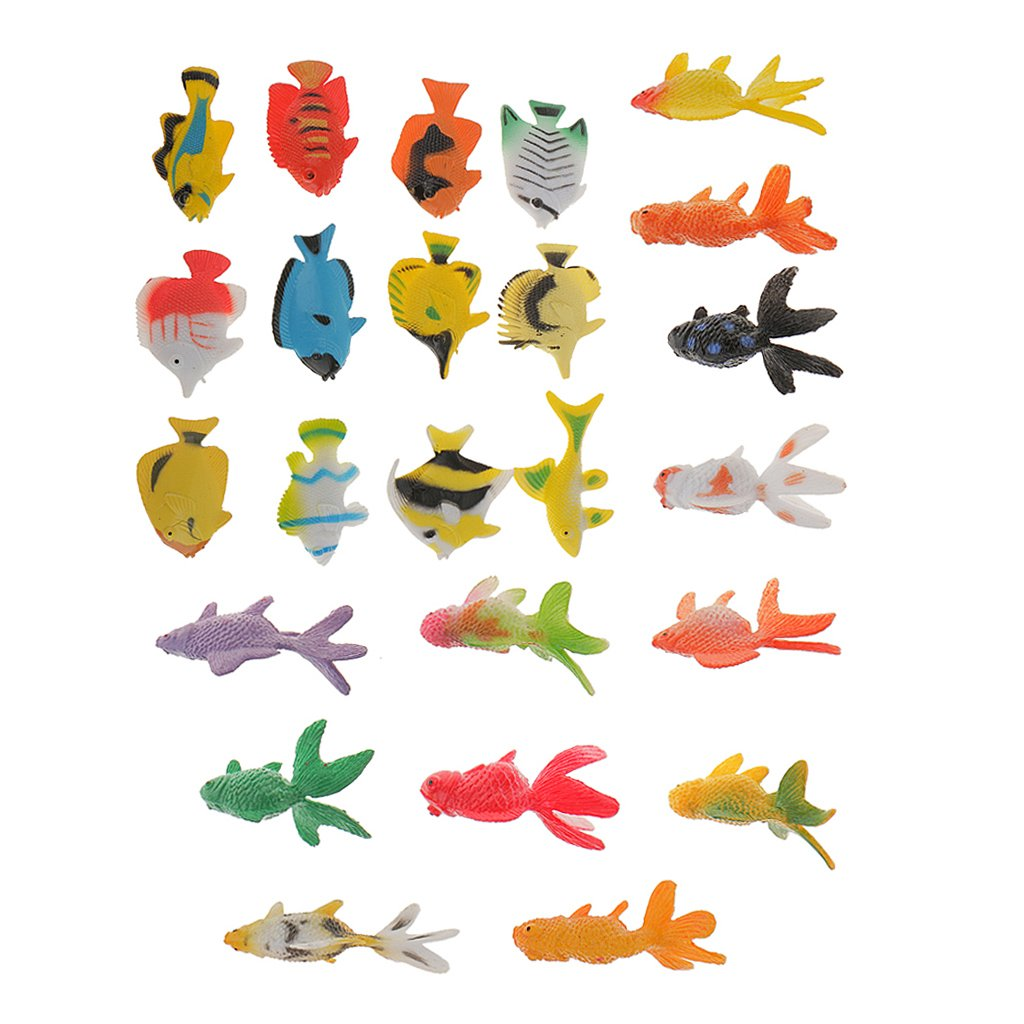MagiDeal 24Plastic Tropical Angel Fish&Goldfish Ocean Animals Small Figure Party Toys VBPAZKSFAZA3808