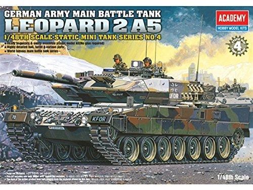 13008 1/48 Leopard 2 A5 German Army Battle Tank by Academy Plastics