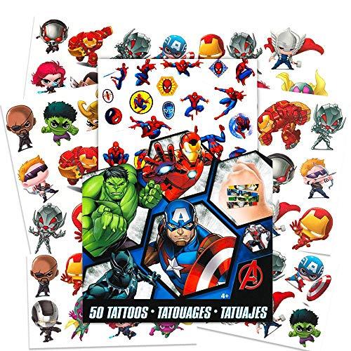 Savvi 50 Temporary Tattoos, Marvel Avengers Assemble, 3-pack