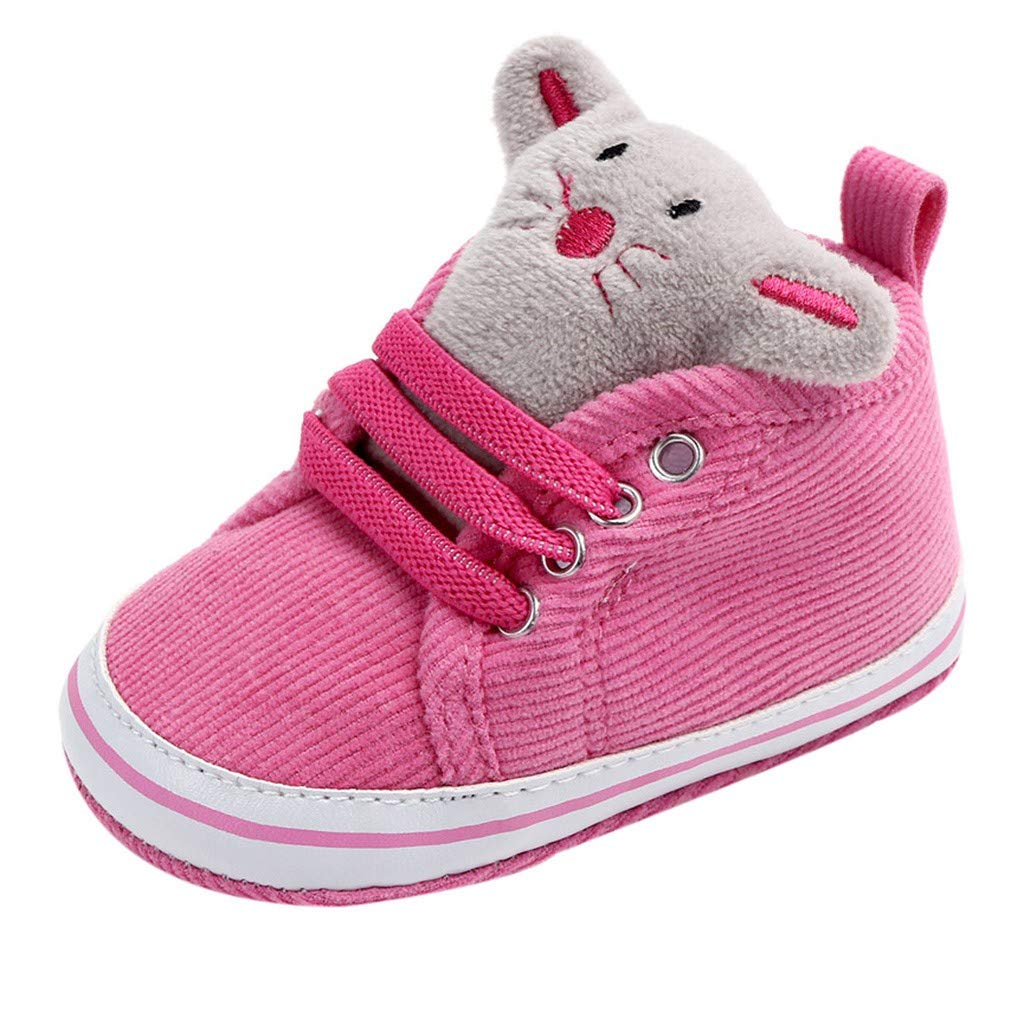 Baby Winter Warm Boots,Jchen(TM) Newborn Toddler Baby Boy Cute Cartoon Animal Soft Sole Boot Casual Shoes First Walking Shoes for 0-18 Months (Age:0-6 Months, Hot Pink)
