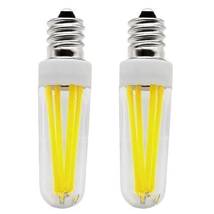 1819® E12 Bombilla LED 4 x Filamento 3W Bajo Consumo Lámpara blanco fresco 6000K AC 220-240V Ángulo de visión 360° 300 Lumen Sustituye la bombilla ...
