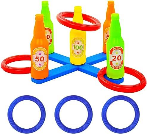UnfadeMemory Ring Toss para niños,Juego de Lanzamiento de Anillo,Juegos Jardin para Niños,Regalo de Cumpleaños,Navidad,Plástico,Multicolor: Amazon.es: Hogar