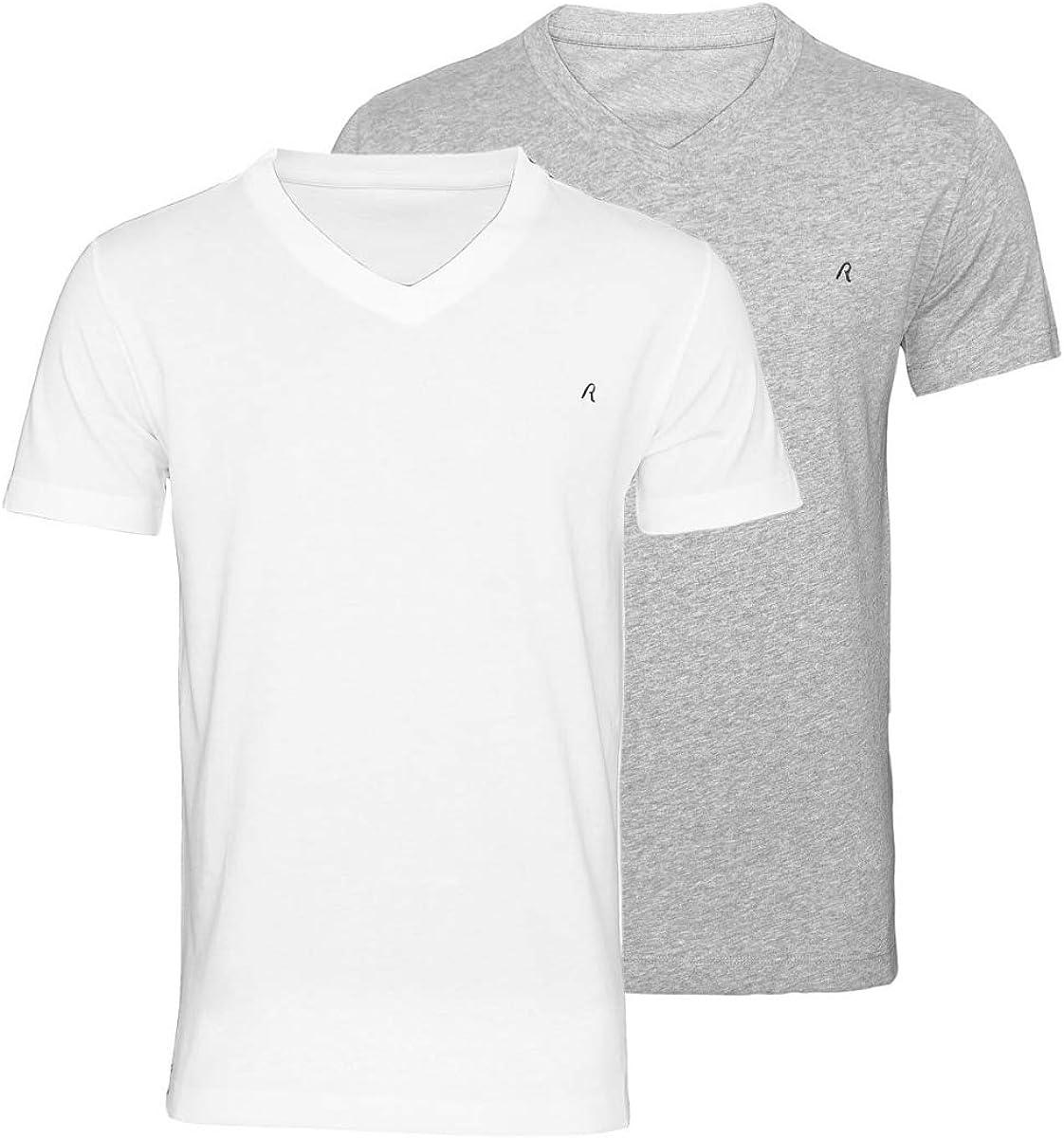REPLAY Logo T-Shirt M3852 Burgund 100/% Baumwolle NEU Größe L