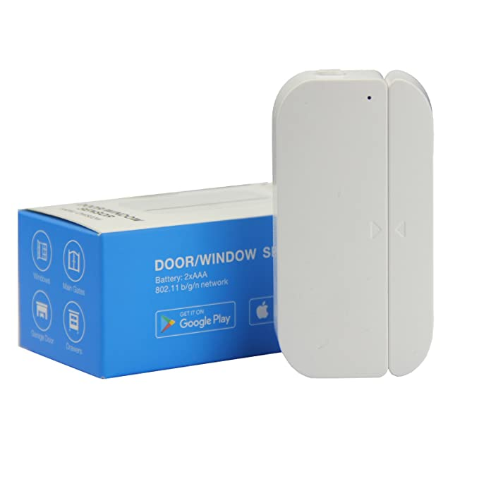AI-cluster WiFi Door and Windows Sensor Magnets Smart Phone APP Control  Doorbell Compatible with Alexa Google Assistant IFTTT,Wireless Security  Alarm