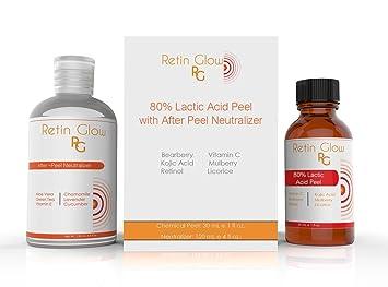 Amazoncom Lactic Acid 80 Gel Peel Including After Peel