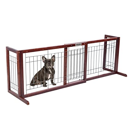 Etonnant Pet Premium Free Standing Pet Gates | Extra Wide Indoor Small Dog Gate |  Wooden