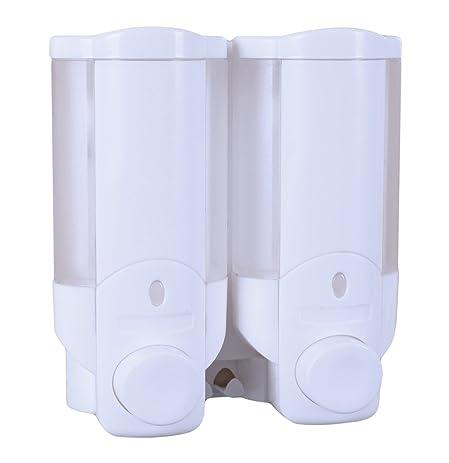 Beautiful Sleek Economy Dual Chamber Soap / Shampoo Dispenser, White