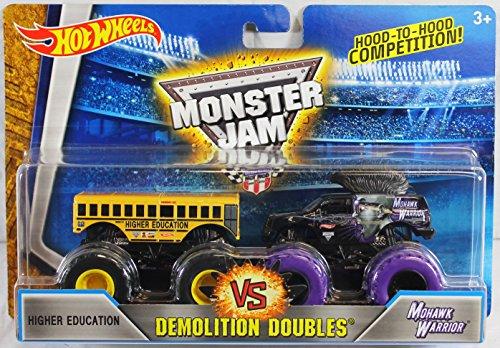 2016 Hot Wheels Monster Jam Demolition Doubles - Higher Education vs. Mohwak Warrior 1:64 Scale