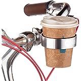 LYLXS Fahrrad-Kaffeehalter, Becherhalter, Dosenhalter, Mountain Bike Handlebar Coffee, Water Cup Holder Cage,Schwarz/Silber