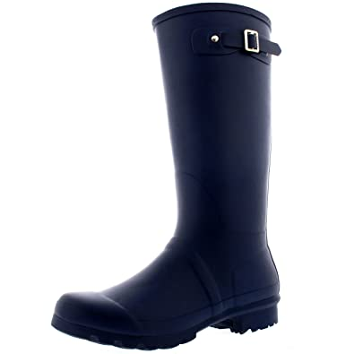 Amazon.com | Polar Womens Tall Extra Wide Calf Wellington Galosh ...