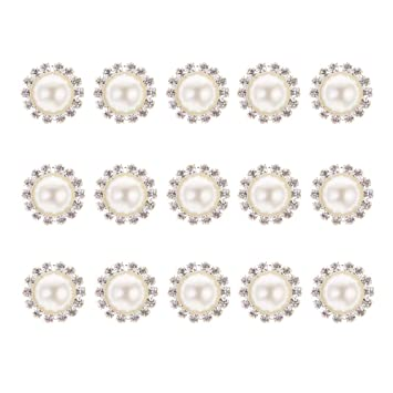 fiesta botones de perlas planas para boda 30 unidades de adornos de perlas de imitaci/ón adornos de flor de perlas de imitaci/ón adornos decoraci/ón del hogar y manualidades.