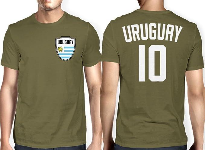 HAASE UNLIMITED para Hombre Uruguay – Uruguayo, de Fútbol Camiseta de Fútbol - Verde -