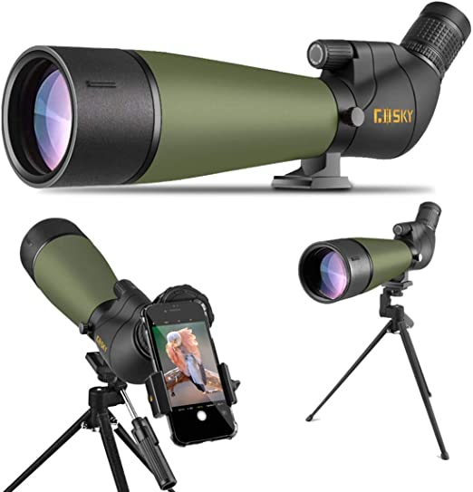Best Spotting Scope Under 500: Gosky 2019 Updated 20-60x80 Spotting Scope