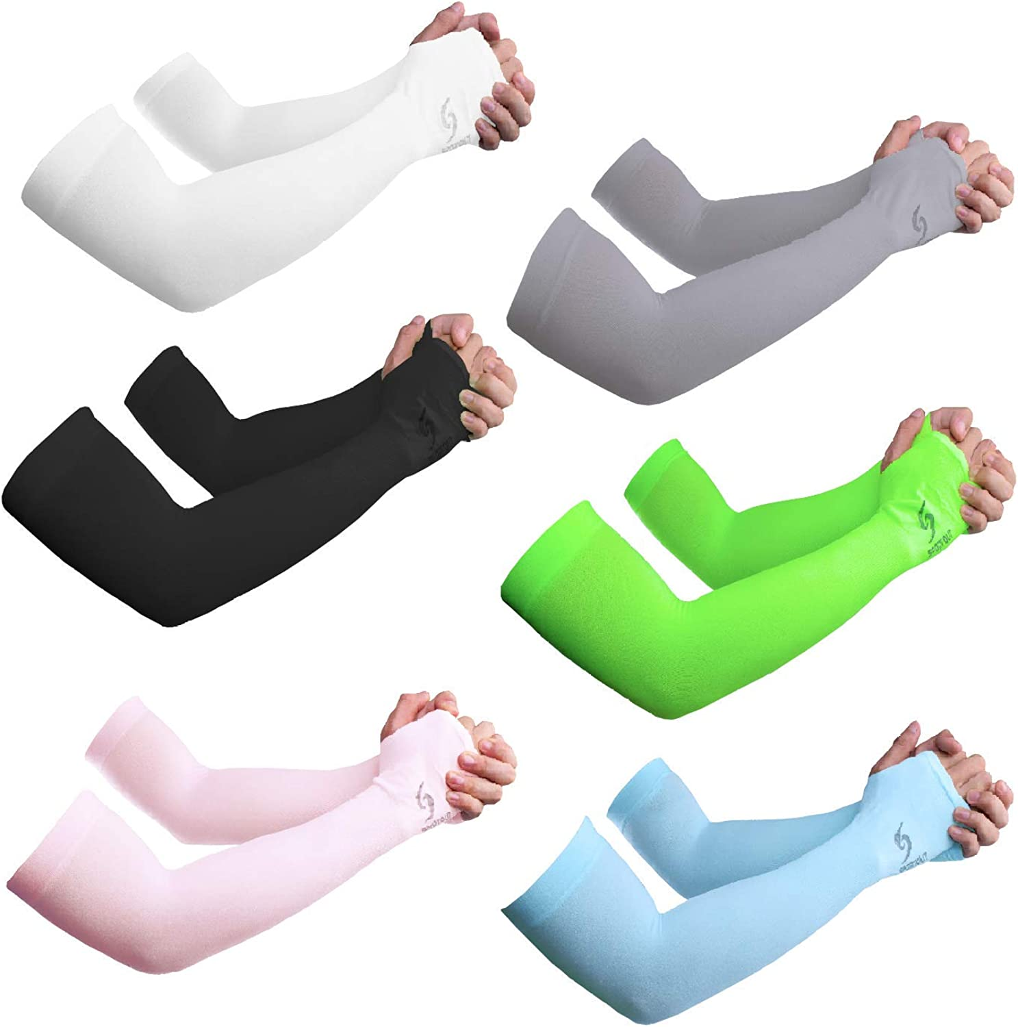 Sportout Unisex UV Protection Cooling Arm Sleeves, Ultra-long Tattoo Cover Sleeves,Arm Sleeves Sun Protection