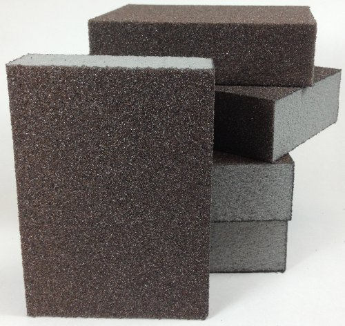 4 Sided Sanding Block, Foam Block, Sponge Pad, Hand Sanding Tool (60 Grit Medium) by DuraSand by DuraSand