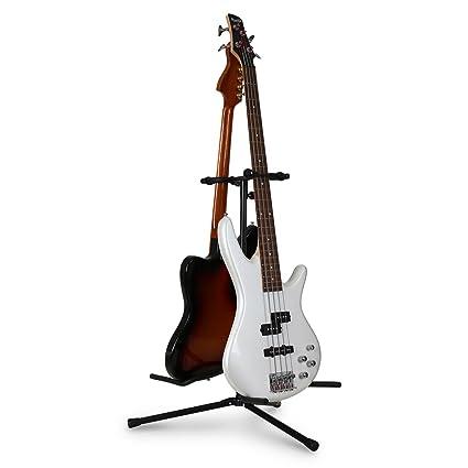 Auna - Soporte plegable para 2 guitarras eléctricas, acústicas y bajos