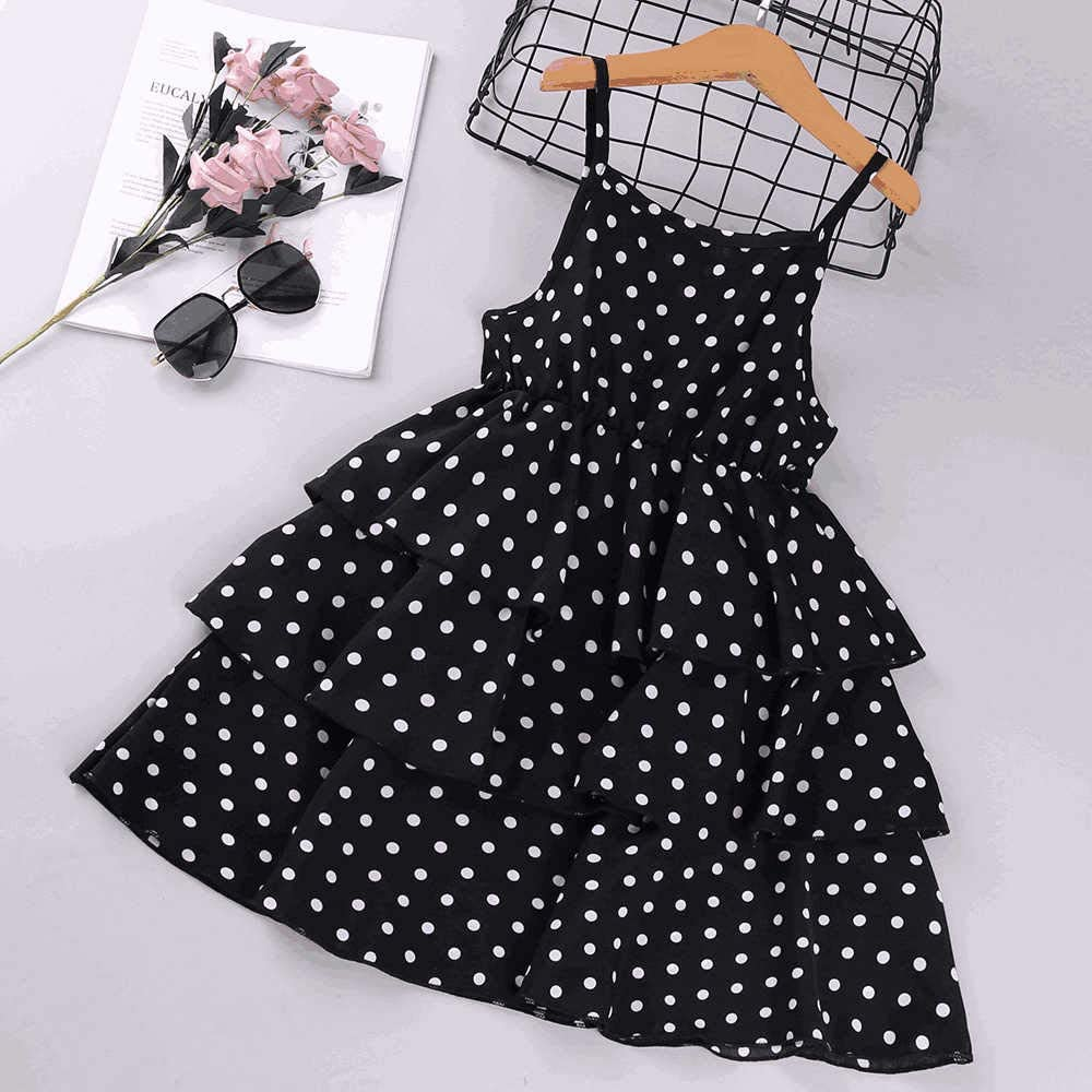 Hipea Toddler Baby Girl Clothes Sleeveless Spot Dresses Princess Formal Kids Summer Dress Skirt