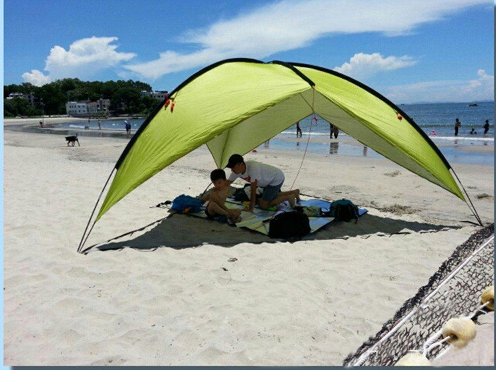 Beach Canopy Tent Large Triangular POP UP Family Shade & Beach Canopy Tent Pop Up Camping Soccer Games Festivals Sun ...