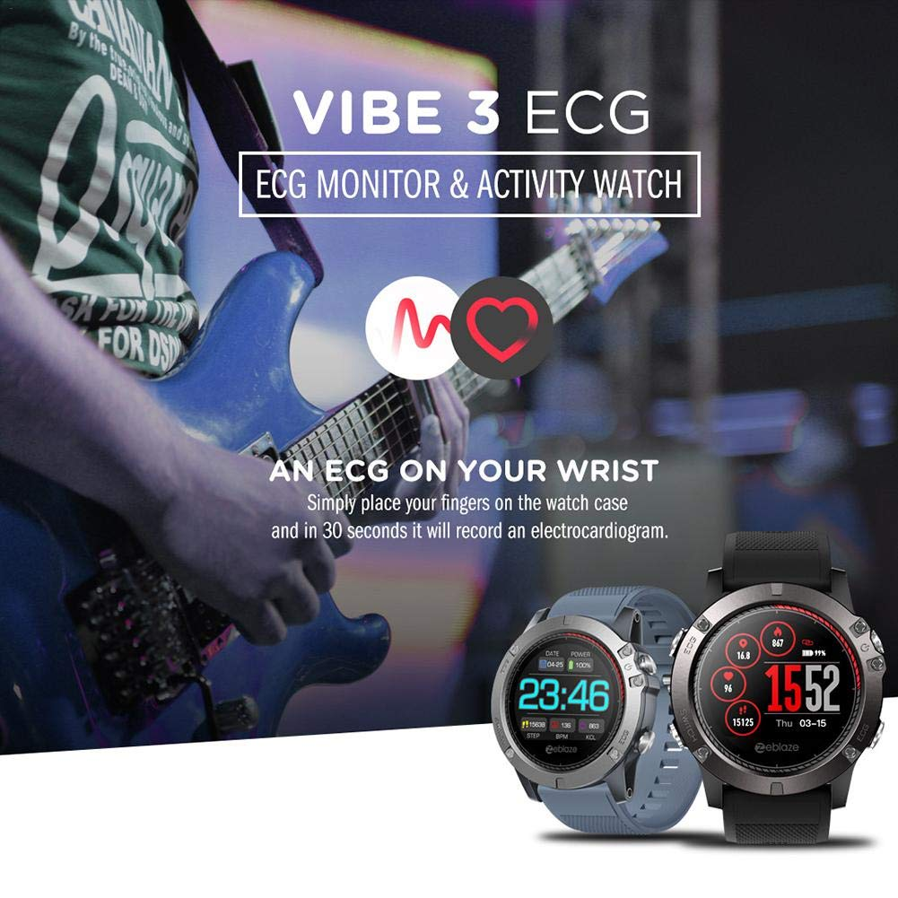 applyvt Zeblaze Vibe 3 ECG Smartwatch Greencell: Amazon.es ...