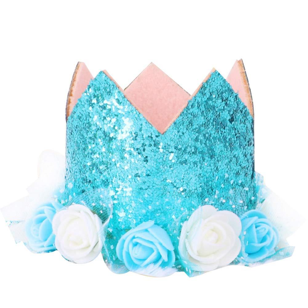 Runfon Crown Numero Compleanno Cappello Bambino Riutilizzabile Festa di Compleanno Gattino Fascia per Cappelli 1/ Confezione da 1 /9/cifre ciondoli Grooming Accessories dai Bambini