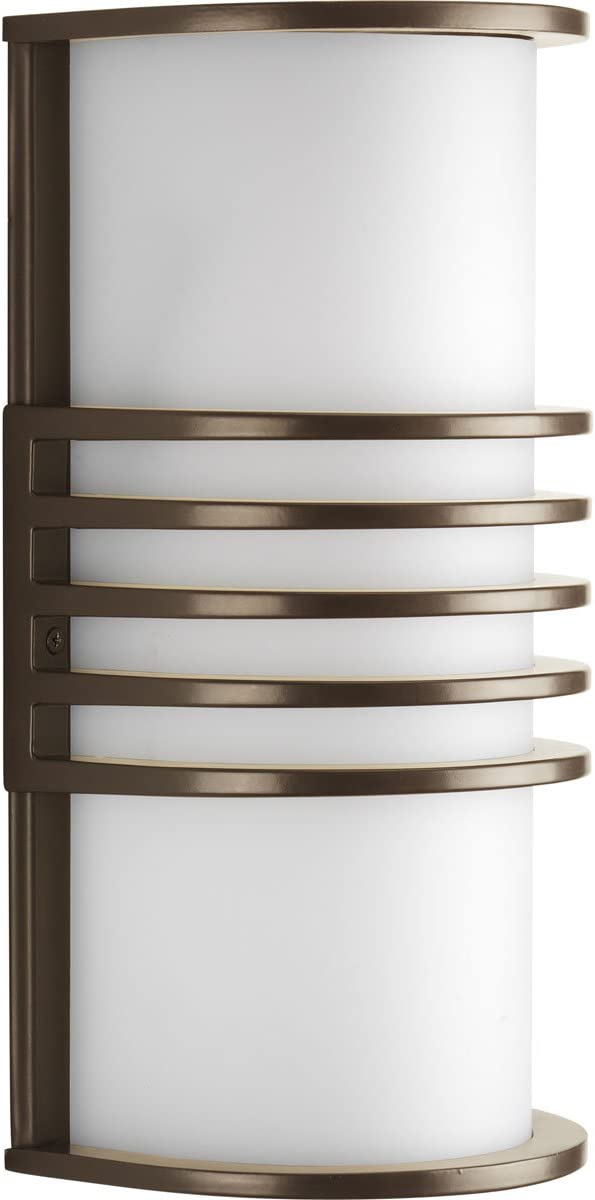 Satin Aluminum Progress Lighting P5914-16 1-Light ADA Wall Lantern